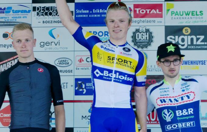 Sasha Weemaes kan zichzelf opvolgen. Hij haalde het toen voor Tim Merlier, die zondag in de Giro zegevierde, en Alfdan De Decker.© (Foto VDB)