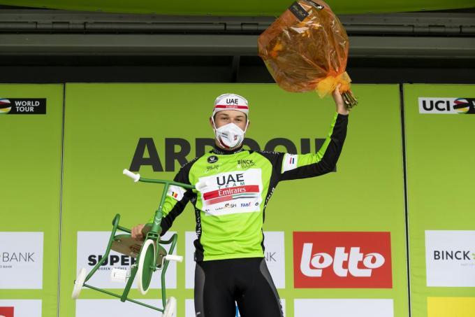 Vorig jaar won Jasper Philipsen de rit met aankomst in Ardooie.© Belga