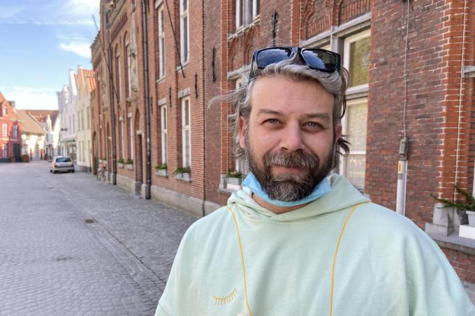 Philip Lefevere, een Oostendenaar die voor zijn Russische vrouw in Brugge kwam wonen en de schoonheid van de stad ontdekte© KVdm