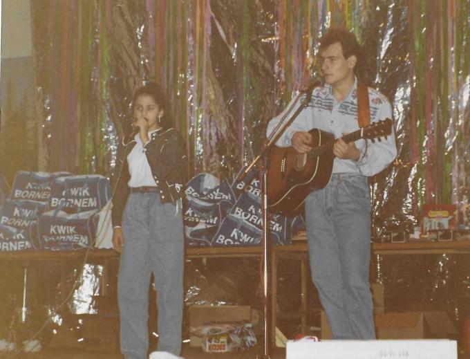 Een foto van 30 jaar geleden, samen met Samira.© Repro PADI