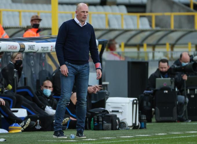 """Coach Philippe Clement: """"We zijn er nog niet, we moeten de focus behouden.""""© BELGA"""