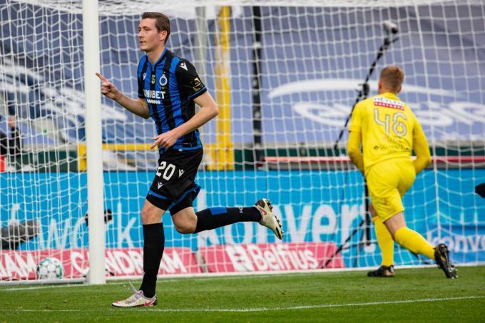 Hans Vanaken, die zondag nog scoorde, zit in de EK-selectie van Roberto Martinez.© Belga