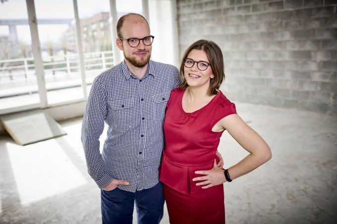 Esli Heyvaert (28) en Silke Horsten (29).© Play4