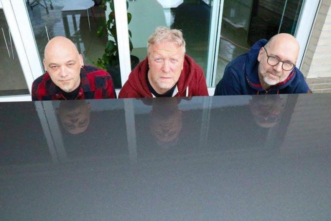 Sam Claeys, Peter Slabbynck, Vincent Pierins. (gf)
