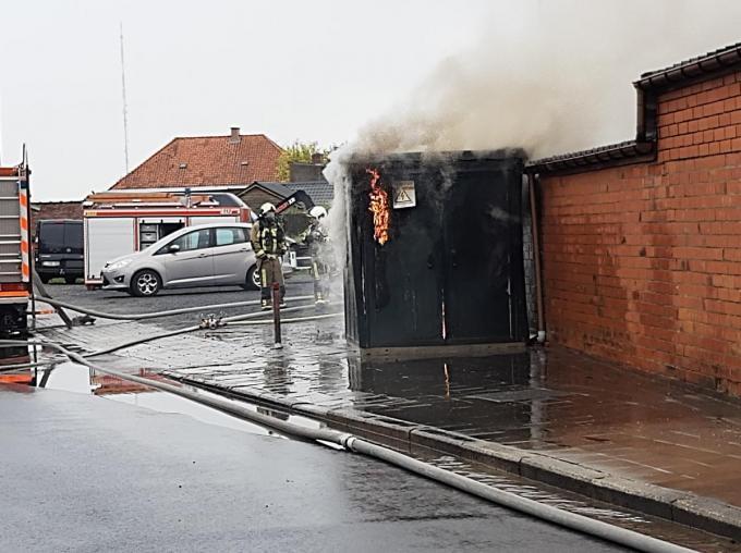 Van de kast bleef na de brand niet veel meer over.© BF
