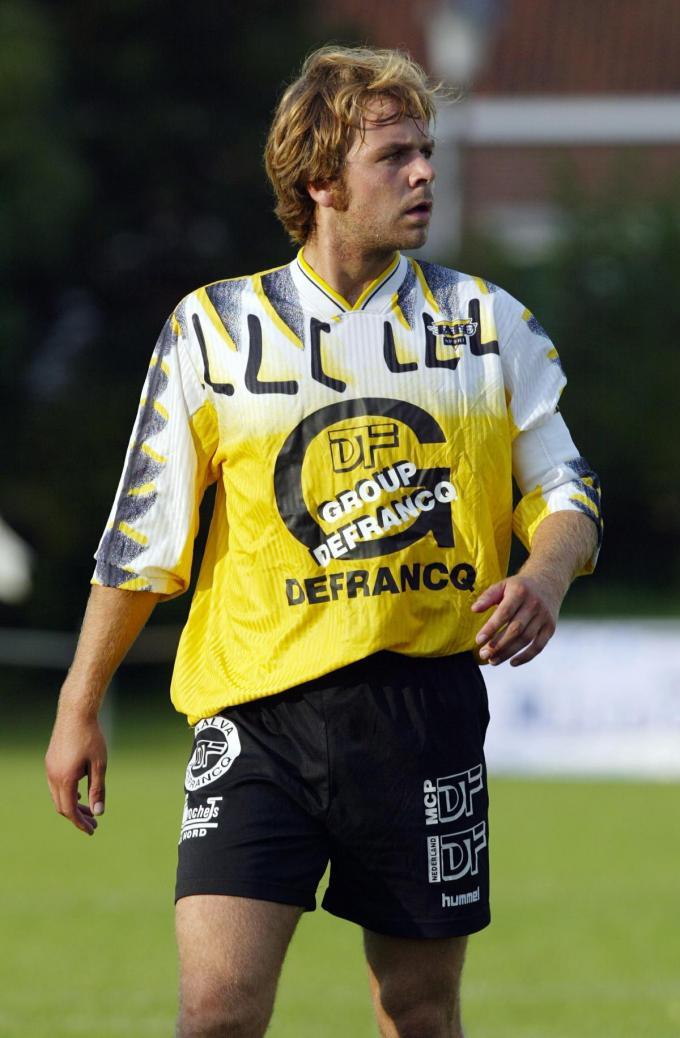 Peter Deprez anderhalf decennium geleden in actie bij Winkel Sport.© KRANT VAN WEST-VLAANDEREN