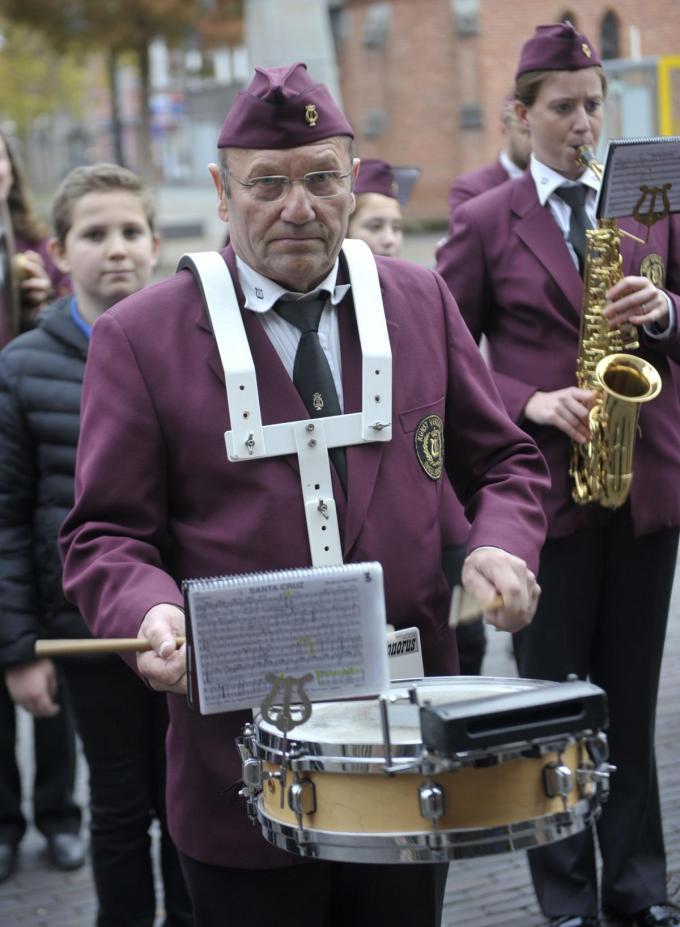 Ludo Soenens op stap tijdens de Sint-Ceciliaviering van 2019.© (Foto FODI)
