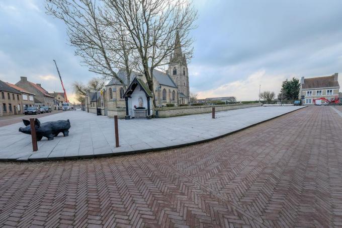 De kerk werd opnieuw opgebouwd, maar staat intussen leeg.© LC