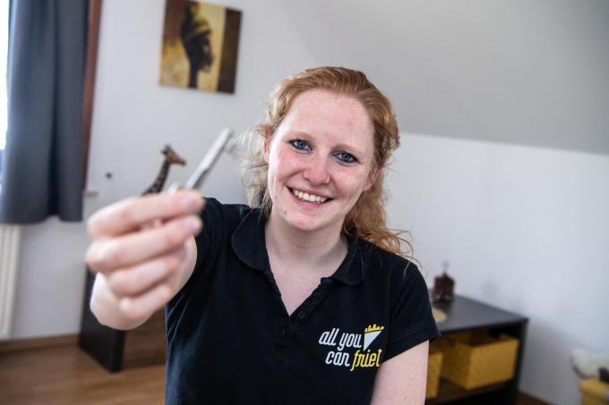 Ulrike Vierstraete mag een week in het Q Beach House verblijven.© (Foto Frank)