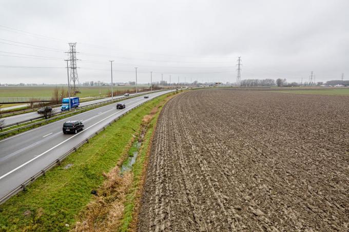 Het terrein waar het nieuwe stadion van Cercle Brugge moet komen.© Davy Coghe