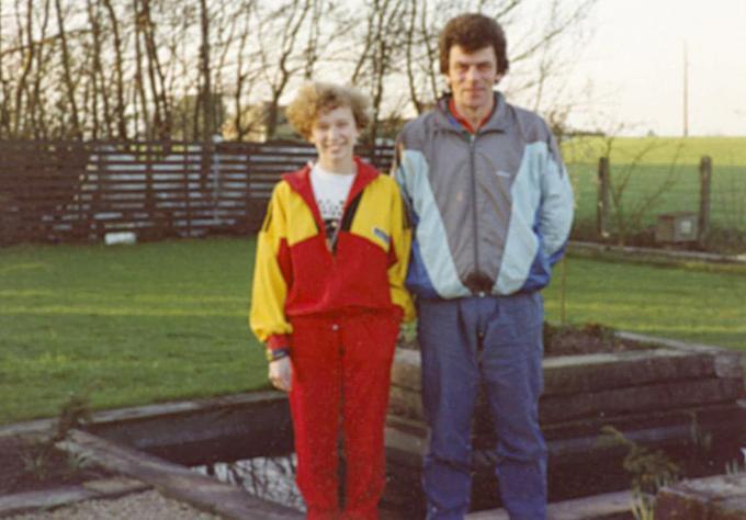 Veerle Dejaeghere met haar trainer Michel Ramboer die haar heel haar carrière begeleidde.