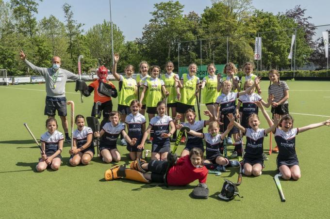 De try-outs lokten meer dan 100 spelertjes naar de Roeselare Rangers.©STEFAAN BEEL Stefaan Beel