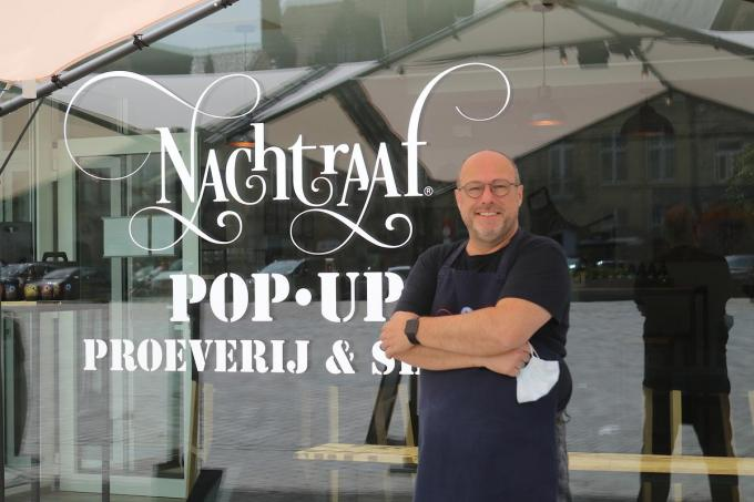 Lieven Onraedt opent De Nachtraaf Pop-Up Proeverij & Shop op de Grote Mark. (foto ACK)©type=