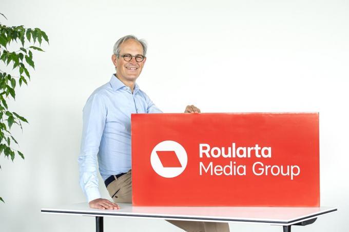 Ceo Xavier Bouckaert stelt met trots het nieuwe logo voor.©JOKE COUVREUR