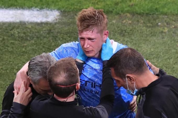 De Bruyne viel tijdens de Champions League-finale uit met een oogkasblessure.© Getty Images