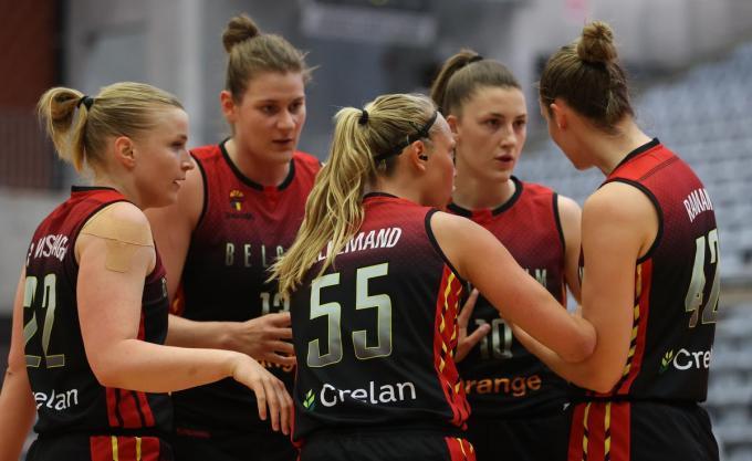 De Belgian Cats moesten nipt het onderspit delven tegen Europees kampioen Spanje.© BELGA