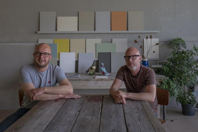 Jean-Luc Vanelslander en Christophe Dehaene, zaakvoerders van De Verfman.© foto MD