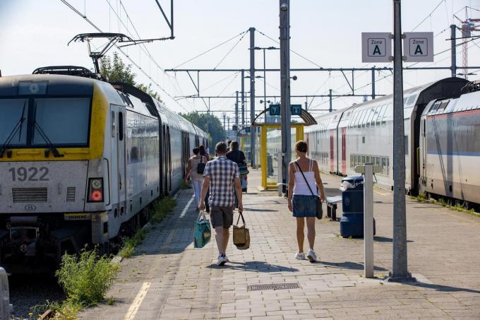 Het treinstation in Blankenberge.© BELGA