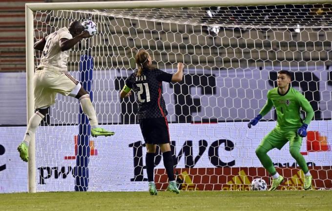 Romelu Lukaku bezorgt België de overwinning.© BELGA