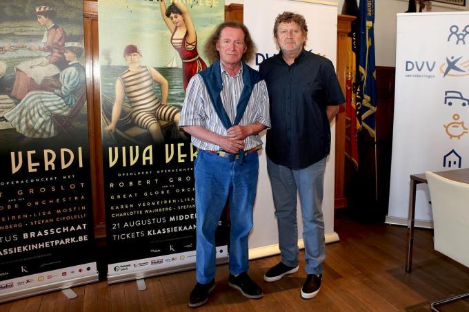 Robert Groslot (links) en Carl Huybrechts.© PADI/Daniël