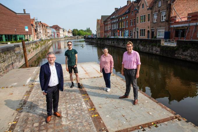 Vlnr. Dirk De fauw, Floris Vandamme, Katian Liekens en Franky Demon.© (Foto Davy Coghe)