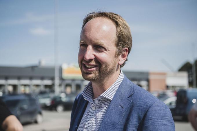 Nicolas Beaussillon, ceo van Wereldhave Belgium, kwam de plannen voor het vernieuwde Ring Shopping woensdag voorstellen.© Olaf Verhaeghe
