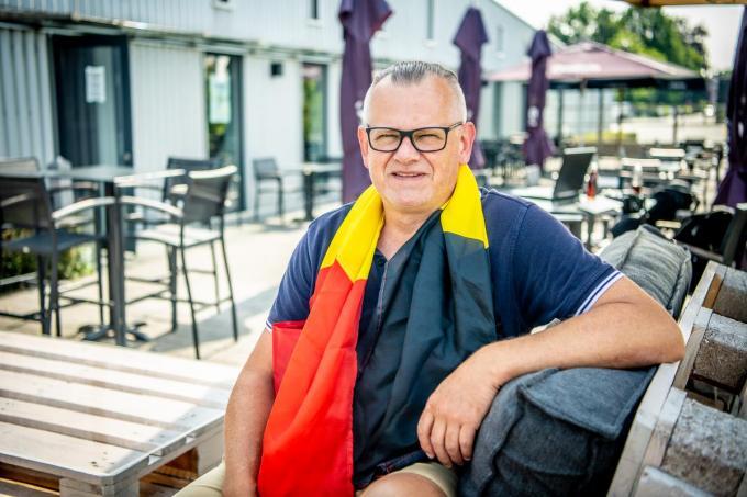 Francis Leman organiseert ook weer terrasconcerten in Cultuurcafé De Leest. (foto Frank)© Frank Meurisse