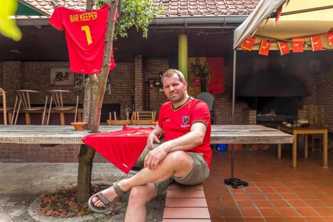 Johan Baele kleedde 't Pompierke aan in Rode Duivelsstijl.©Wouter Meeus foto WME