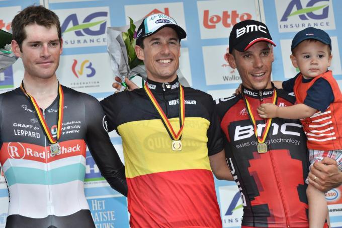 Kristof Vandewalle kroonde zich in 2012, 2013 en 2014 tot Belgisch kampioen in het tijdrijden.© BELGA