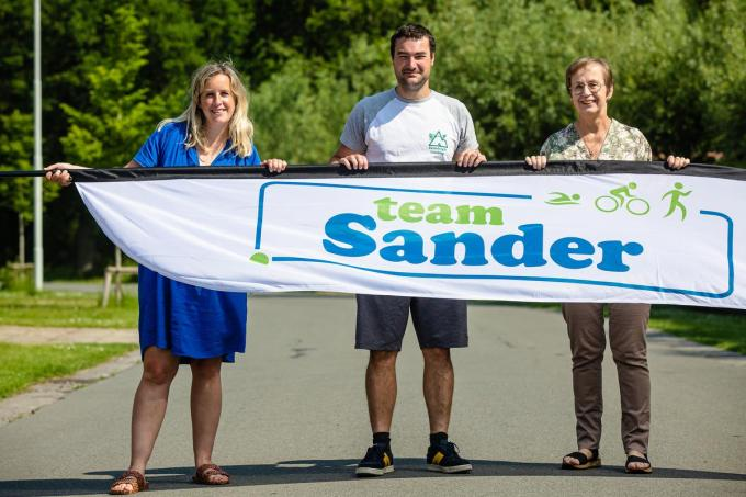 Siemon Swimberghe, Charlotte Verrecas en Saga Olsen maken deel uit van TeamSander.© Davy Coghe