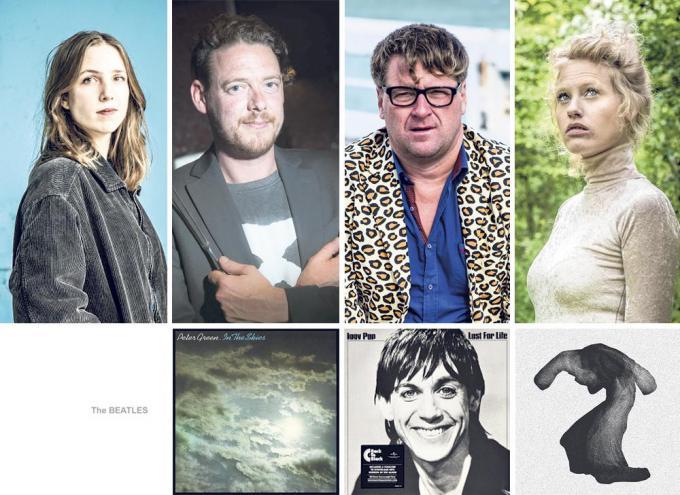 Michèle Cuvelier, Kobe Desramaults, Piv Huvluv en Stefanie Callebaut vertellen over hun meest dierbare platen.© Collage KW