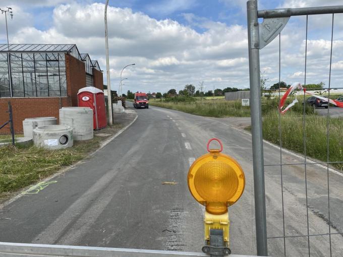 Vanaf maandag 14 juni vinden in de Tapuitstraat grote rioleringswerken plaats.© DRD