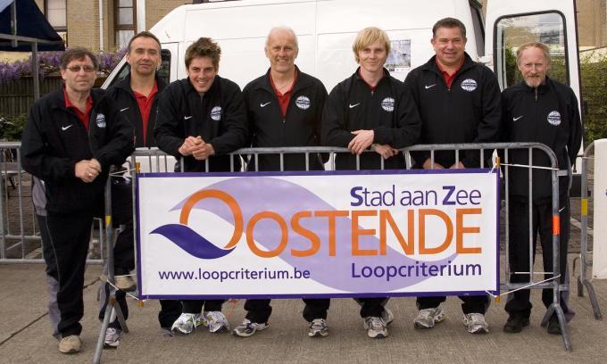 Het vroegere team van het Oostends Loopcriterium.© FRO