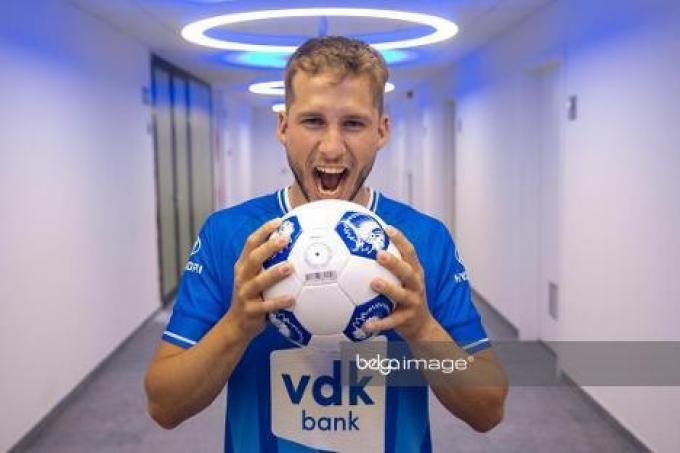 KV Oostende bereikte een akkoord met AA Gent over de transfer van de Deense aanvallende middenvelder Andrew Hjulsager.© Belga