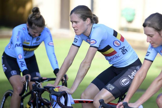 Valerie Demey (links) en Julie Van De Velde (rechts) kijken uit naar de Spelen in Tokio.© Belga