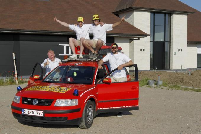 We zien v.l.n.r Eric Vierstraete, Mats Defoort, Wouter Devreker en Brecht Vandermeersch. (foto Coghe)©GINO COGHE Foto Coghe