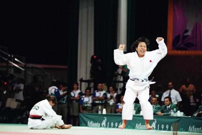 De Japanse Yuko Emoto versloeg Gella Vandecaveye in de finale en pakte het goud.© Getty Images