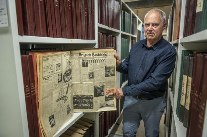 Levend redactiegeheugen Jos Remaut is gefascineerd door de geschiedenis van onze krant(en). (foto Stefaan Beel)© Stefaan Beel