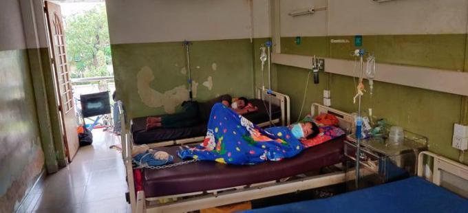 In dit ziekenhuis verbleef David een tijdje.© gf