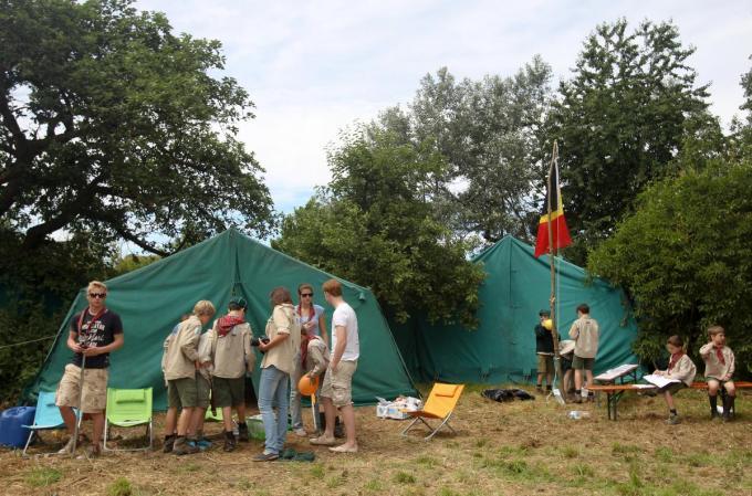 Vanaf 1 juli mogen jeugdbewegingen met 100 op kamp vertrekken, mét overnachting.©VIRGINIE LEFOUR BELGA