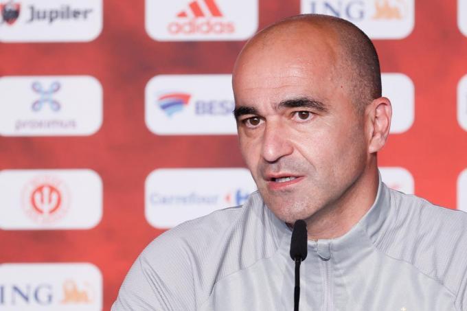 Coach Roberto Martinez.©BRUNO FAHY Belga