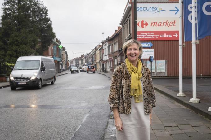 Griet Coppé in de Ardooisesteenweg.© (Foto SB)
