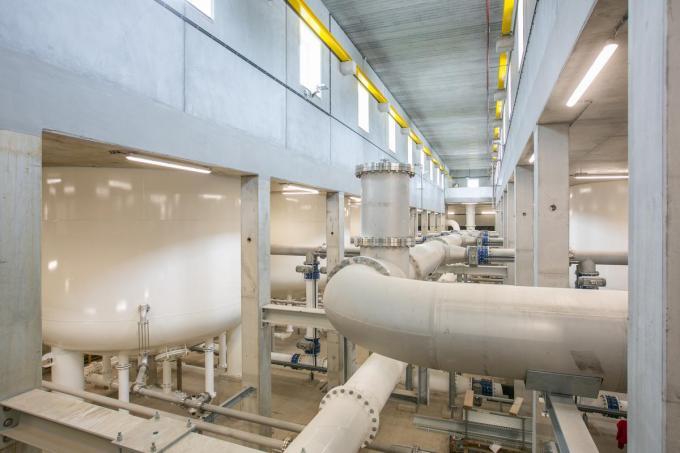 Het waterproductiecentrum De Blankaart krijgt een nieuw nabehandelingssysteem.© De Watergroep