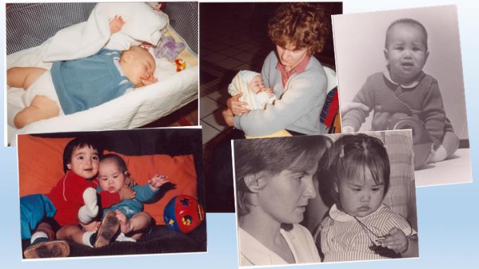Saartje als baby, toen ze net in ons land was aangekomen.© GF