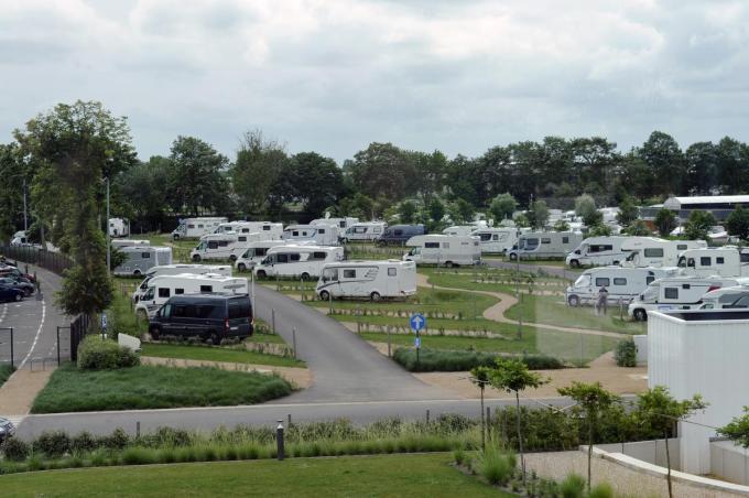 Nieuwpoort Camping Kompas kamperen met camper (mobilhome) aan onze kust dat in de lift zit.©Isabelle Vanhassel IV