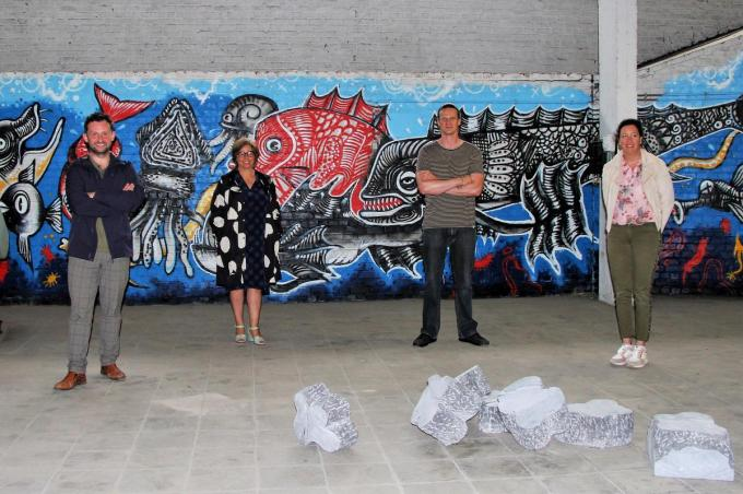 Bert Herrewyn, Petra Flamand, Dieter Van Der Ougstraeten en Kelly Detavernier.©JVGK