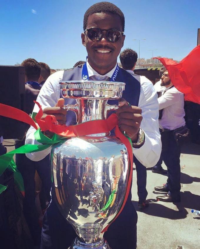 William Carvalho is er opnieuw bij op het EK. De gewezen speler van Cercle werd in 2016 met Portugal Europees kampioen.© GF