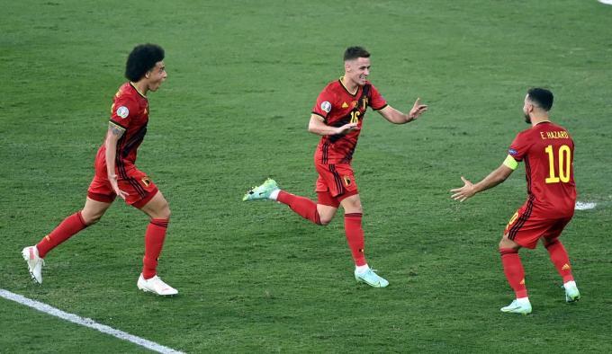 Thorgan Hazard zorgde voor het enige doelpunt.© Belga