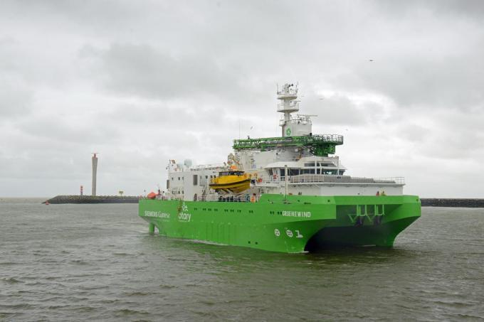 'Groenewind' zal ingezet worden om de Belgische offshore windparken Rentel en SeaMade te onderhouden.©Els Verhaeghe