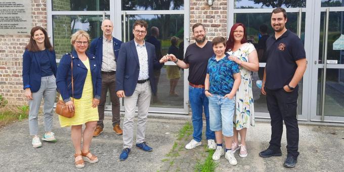 Tim Veys van Spirits by Design is de nieuwe eigenaar van het oude pompgebouw in Bossuit (Avelgem).© Intercommunale Leiedal